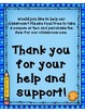 40 Classroom Donation Coupons and Coordinating Thank You Notes