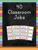40 Editable Classroom Job Labels with Descriptions