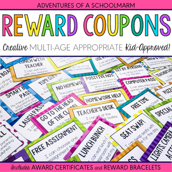 reward coupons for positive classroom management editable
