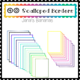 40 Colorful Scalloped Borders {For Commercial or Personal Use}