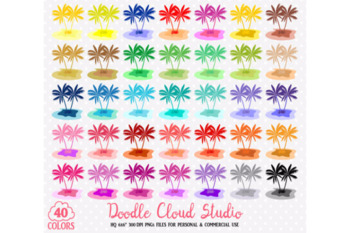 40 Colorful Tropical Island Clipart Travel Summer Holyday sea planner stickers .