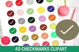 40 Colors Tick Mark Clipart-Checkmark Clipart