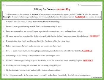 Comma Task Cards (Compound & Complex Sentences)