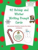 40  Winter, Christmas, and Holiday Themed Writing Prompts