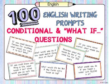 """100 Conditional /  """"What if…?"""" Writing Prompts"""