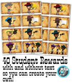 40 Cowboy Western Themed Reward Vouchers