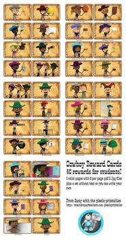 40 Cowboy Western Themed Reward Vouchers