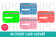 40 Credit Card Clipart- Debit Card Clipart-Shopping Card Clipart