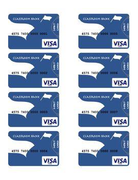 40 Customizable Classroom Debit Cards