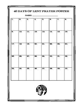 40 Days of Lent Prayer Poster