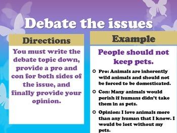 40 Debate Topics of the Week