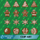 40 Decorated Gingerbread Cookies, Trees, Stars, and Persons, Christmas Holiday