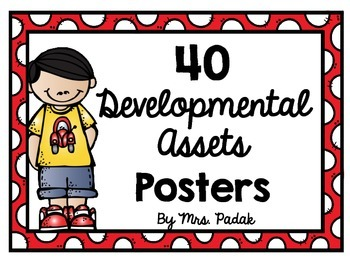 40 Developmental Assets Posters