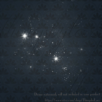 40 Diamond and Pearl Star Clip Arts, Star String, Pearl Star