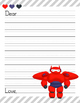 40 Disney Inspired Big Hero 6 Letter Writing Paper Sheets