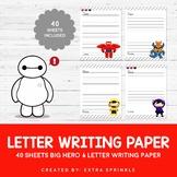 40 Disney Big Hero 6 Inspired Letter Writing Paper Sheets