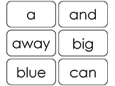 40 Dolch Pre-Primer Sight Word Flash Cards in a PDF file.  Daycare sight words.