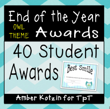 40 End of the Year Awards
