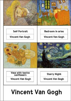 40 Famous painting cards (Freebie!)