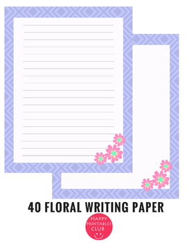 40 Floral Writing Paper Stationary Spring-Summer Stationary