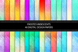 "40 Frosted Iridescent Textured Papers, 12 x 12"" High Resol"