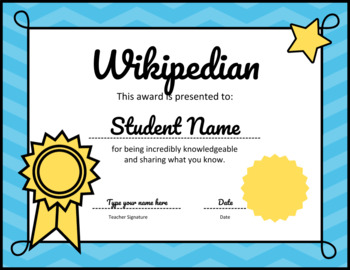 AWARDS - 40 Fun Adjustable Certificates, End of Year Ceremony Activity