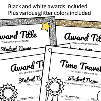 AWARDS - Editable Certificates End of Year Ceremony Activity