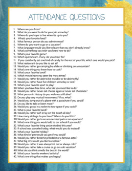 40 Fun Questions to Start Class, All Disciplines, Grades 5-12