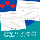 40 Gamer Sentences for Handwriting Practice!