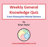 40 General Knowledge Powerpoint Quizzes