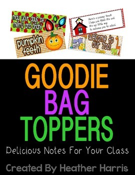 Goodie Bag Toppers for All Year