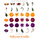 40 Halloween Flower Wreath Clipart Fall Flower graphics and Floral Wreaths