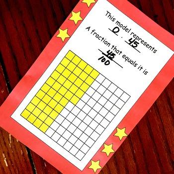 40 Decimal Task Cards to Introduce Decimals
