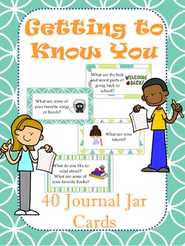 40 Journal Jar Writing Prompt Tags: Getting to Know You