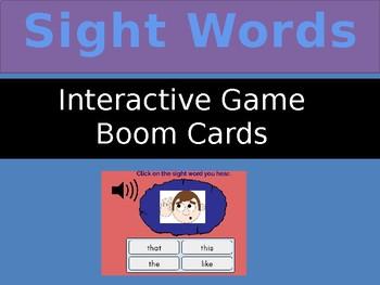 40 Journey's Kindergarten Sight Words: Listen and Click Interactive Resource
