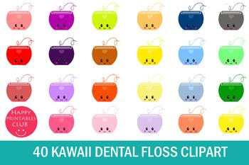 40 Kawaii Dental Floss Clipart- Dental Floss Clipart Images