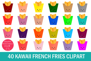 40 Kawaii French Fries Clipart- French Fries Clipart Images
