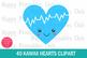 40 Kawaii Heart Clipart- Cute Valentines Day Heart Clipart