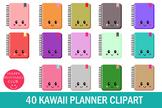 40 Kawaii Planner Clipart- Kawaii Planner Accessories-Kawaii Planner Graphics