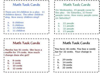 40 Math Task Cards Math Station Or Center By