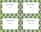 40 Math Task Cards- Solving Equations-All 4 Operations- Gr