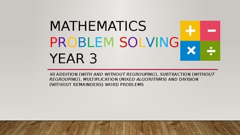40 Math Word Problems Year 3 (Add, Subtract, Multiply, Divide)