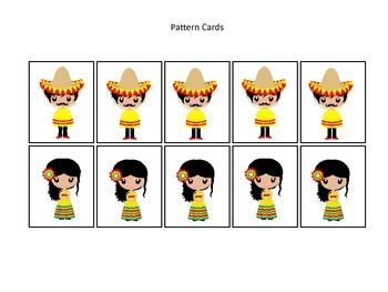 40 Mexico themed Pattern Cards learning activity. Daycare