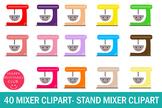 40 Mixer Clipart-Stand Mixer Clipart-Kawaii Mixer Clipart