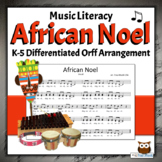 Winter Holiday Song with Orff Arrangement | African Noel