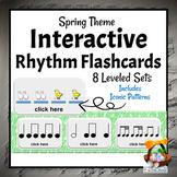Interactive Rhythm Flashcards   Spring Music Activities
