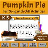 Fall Music Activities, INTERMEDIATE – Pass the Pumpkin PIE