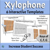 Interactive Orff Xylophone and Metallophone Templates | Keys of C, F, G