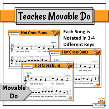 Kodály Music Reading Songs with Orff Accompaniments | Do Re Mi BUNDLE