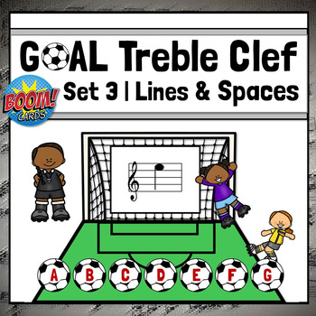 Treble Clef Note Names-LINES & SPACES, Music Boom Online Game